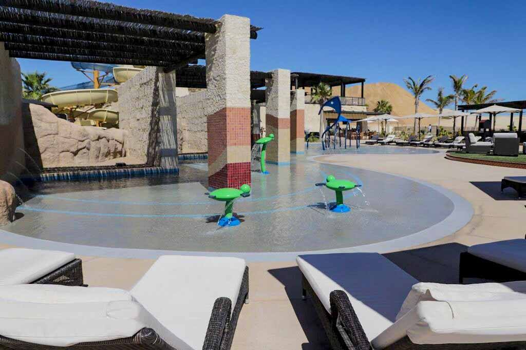 Kids love our lagoon-style pool!