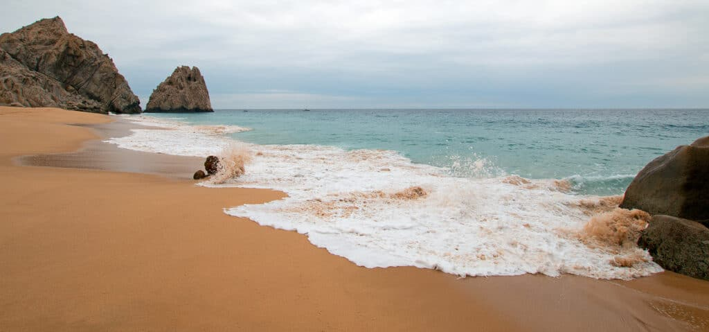 Divorce Beach on the Pacific side of Lands End in Cabo San Lucas